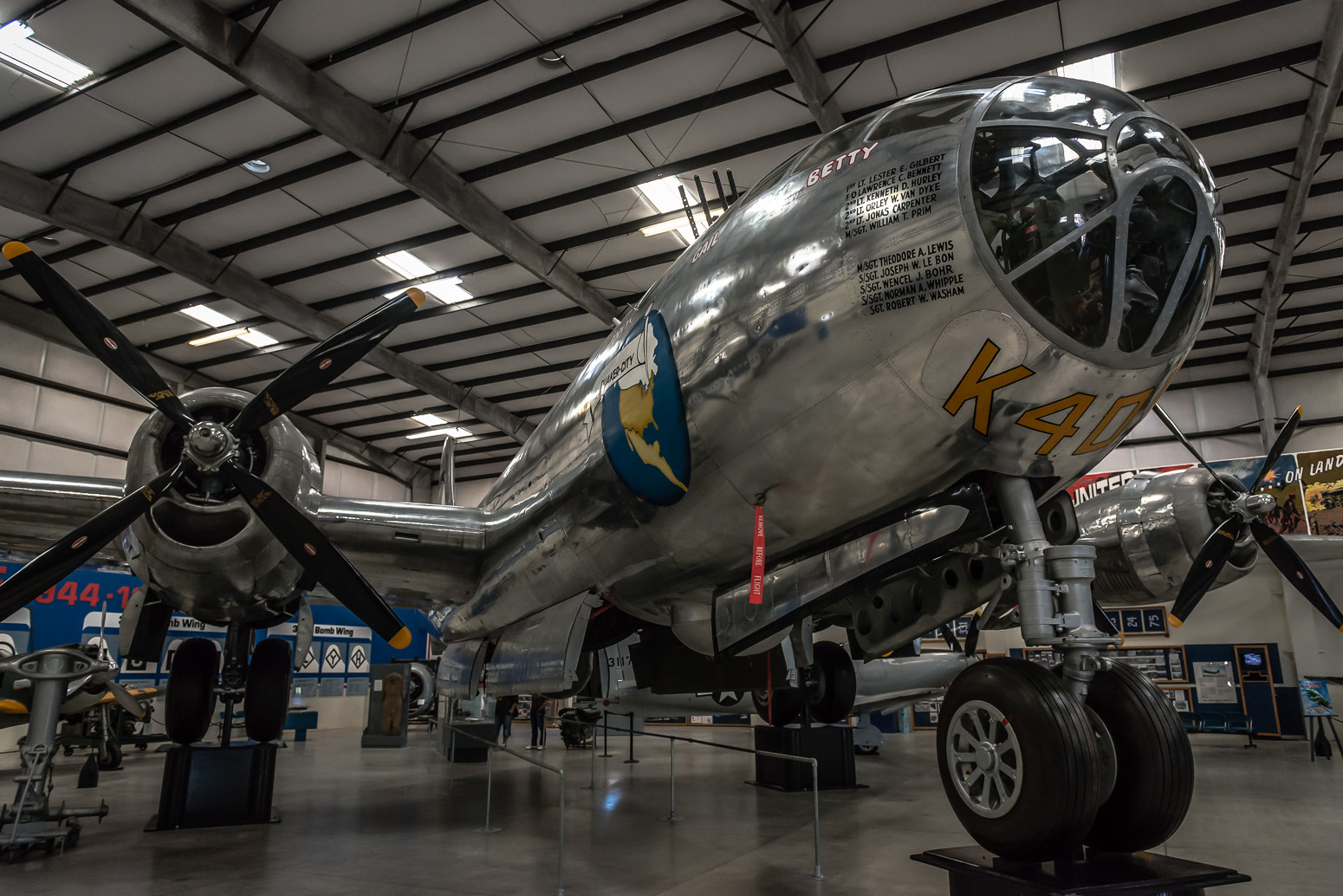 B-29 Stratofortress, Carried out 26 bombing missions over Japan during WWII, Pima Air & Space Museum , Tucson, USA