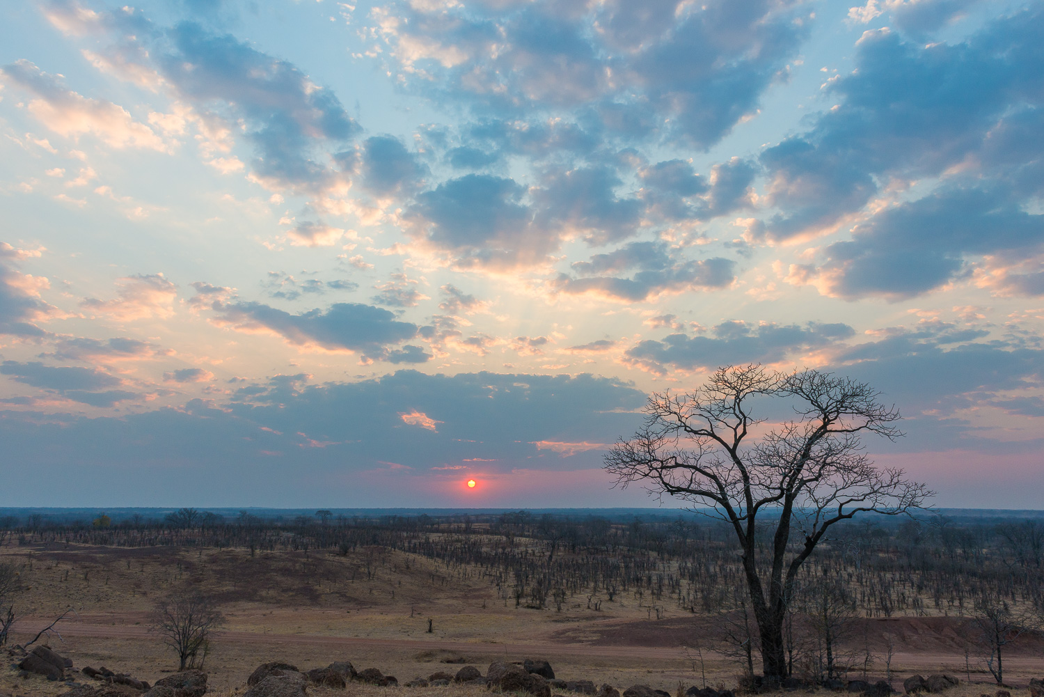 Sunset, Kuyenda Lodge, South Luangwa, Zambia