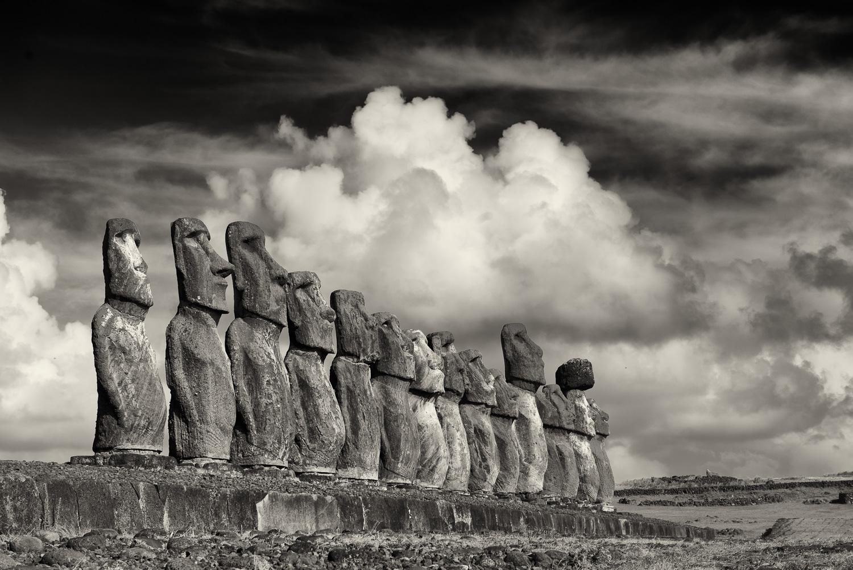 15 MOAI, Tongariki, Easter Island, Chile