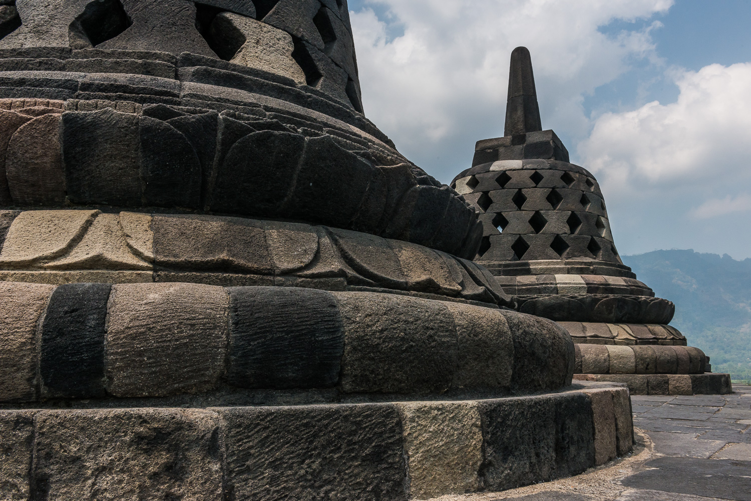 Stupa, Borobudur, Magelang, Central Java, Indonesia