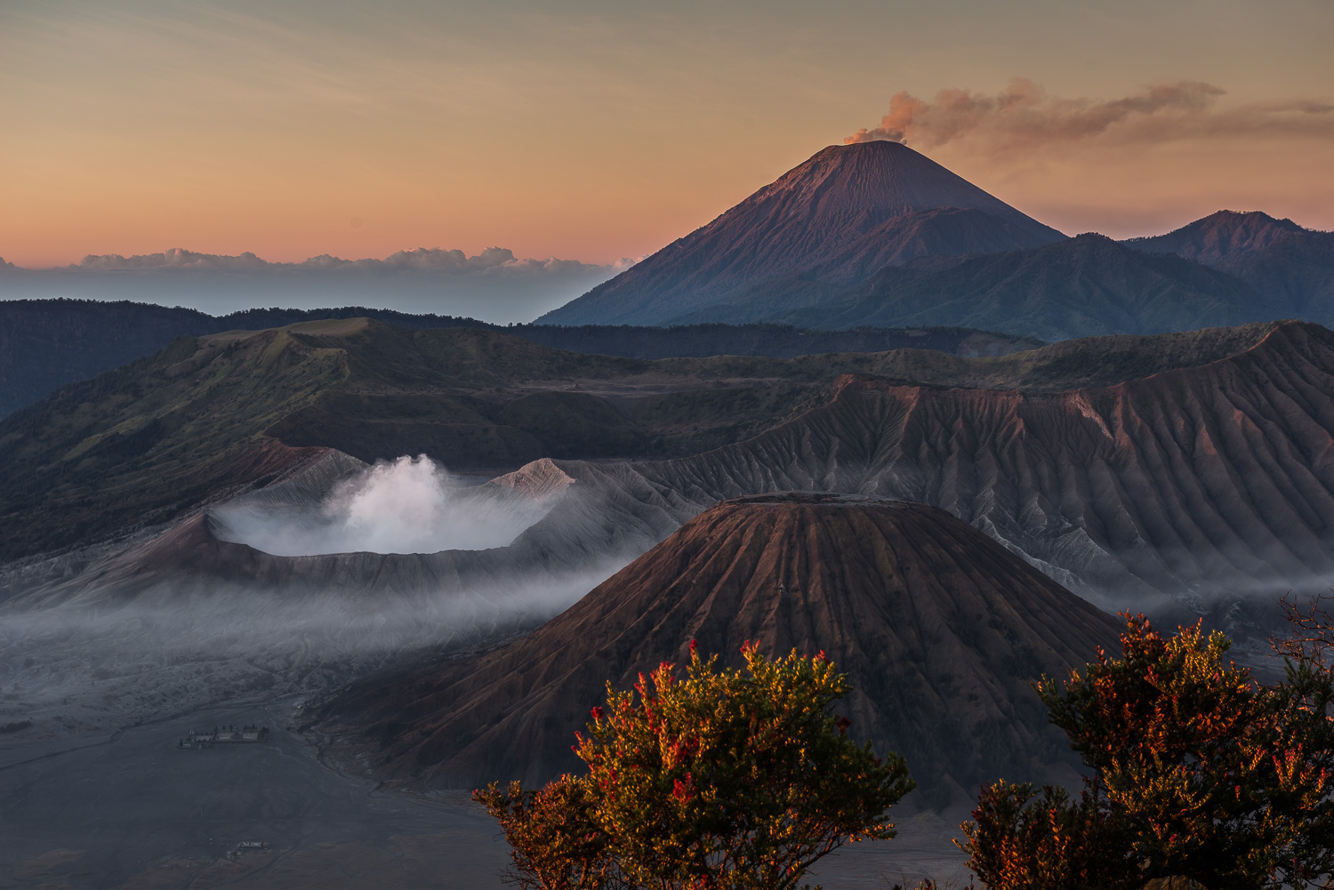 Mount Bromo & Mount Batok, Mount Semeru, East Java, Indonesia