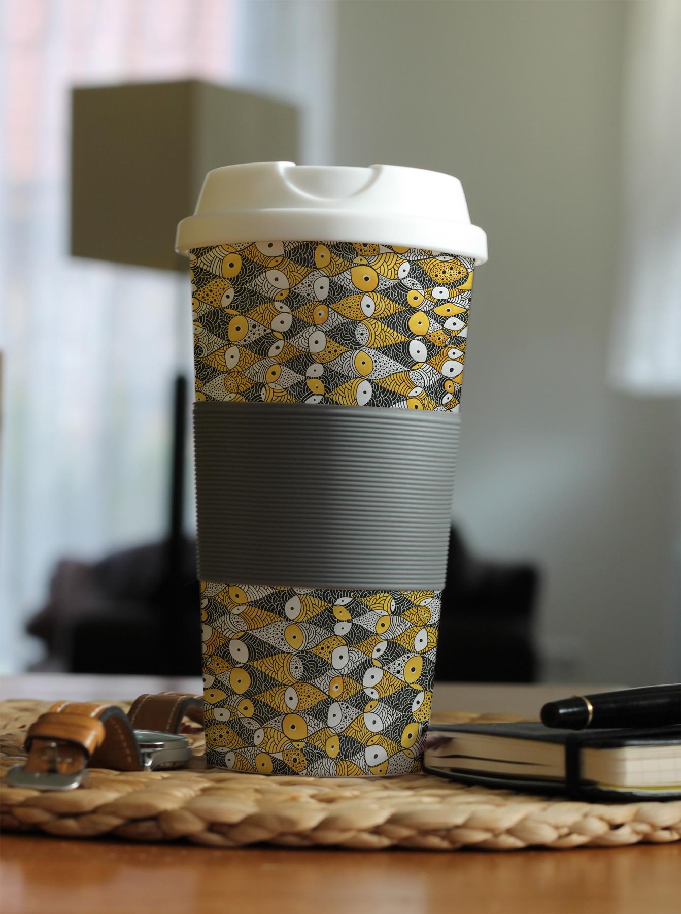Fishing Pattern Coffee Mug