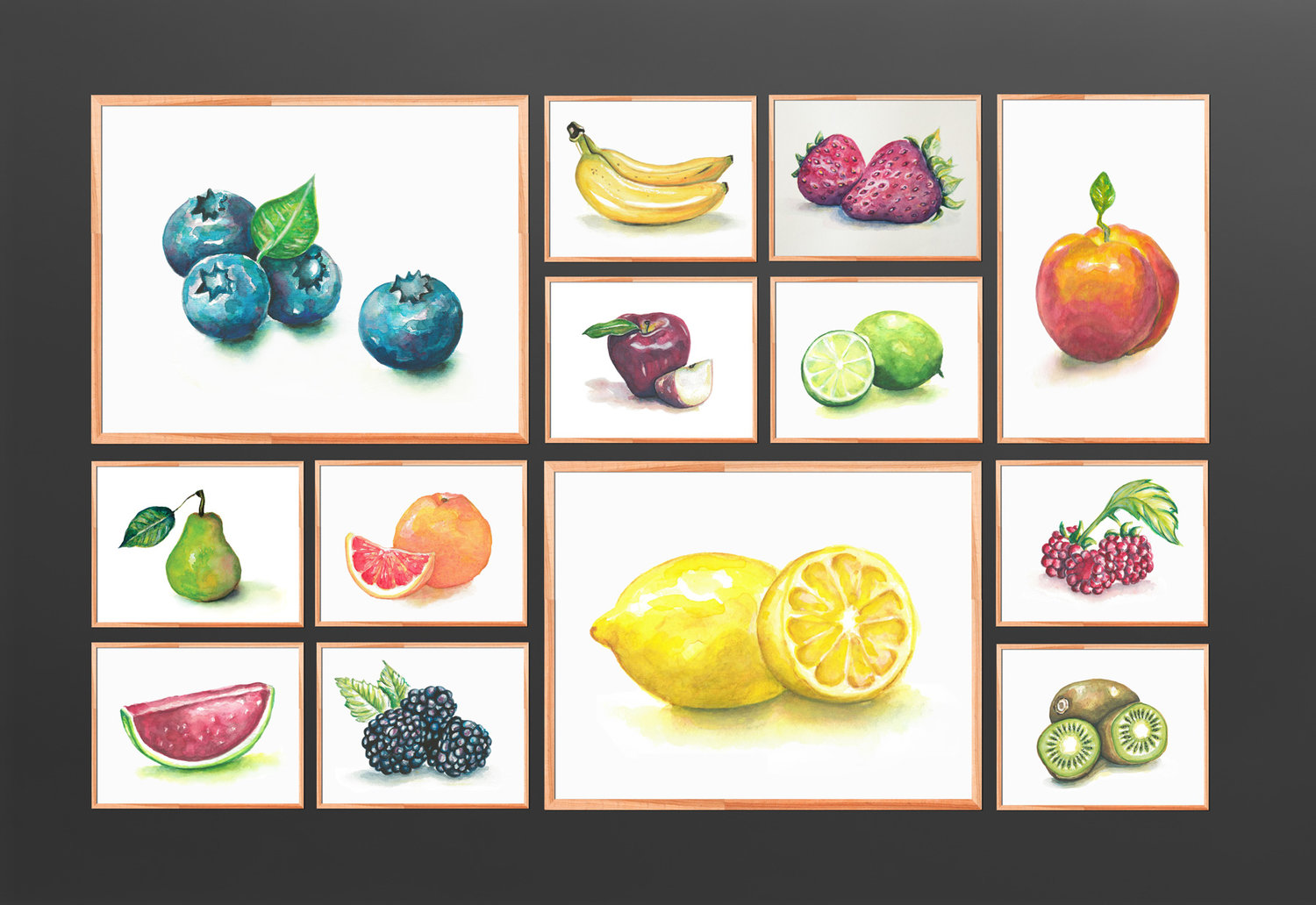 Watercolor still life series.  2011-2014 // Etsy shop and commissioned artwork.