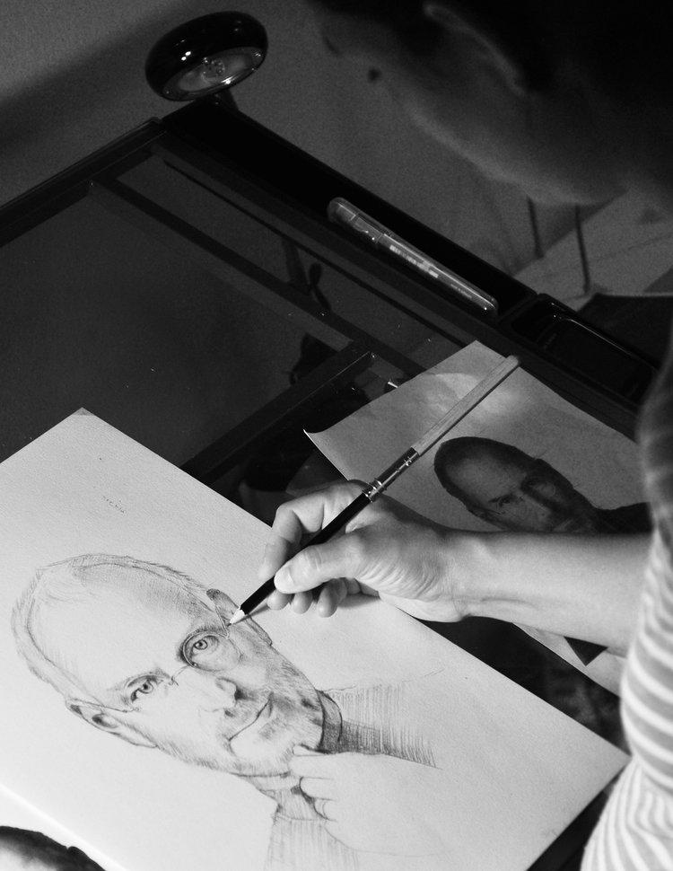 Steve Jobs. 2012 // graphite pencil portrait drawing.