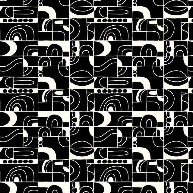 Surface Design. Black & White version. Diseño de estampado version blanco & negro. #RepeatPattern. #Rapport . . #annyescanoruiz #annyescanoruizdesign #annyruizdesign #annypatternexploration #geometric #art #artist #creative #rapport #surfacedesign #pattern #estampado #patterndesign #domestika #midcenturydesign #midcenturypattern #blackandwhite