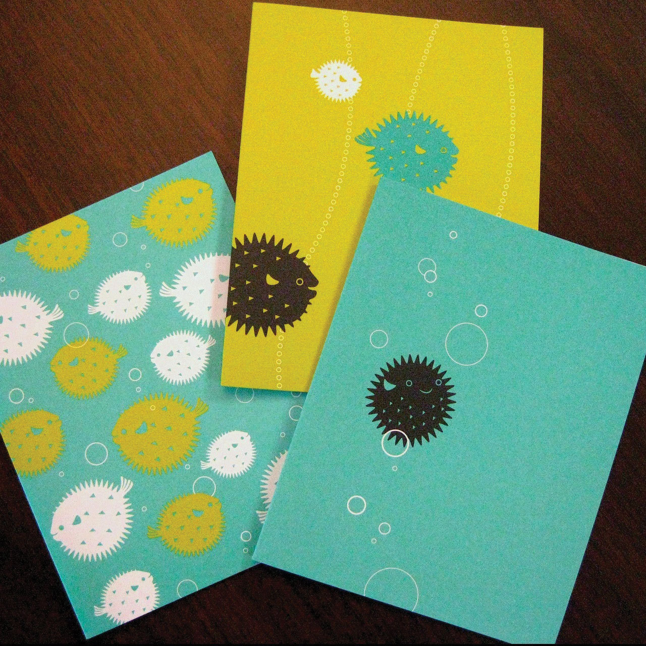 PUFFER FISH NOTE CARD SERIES