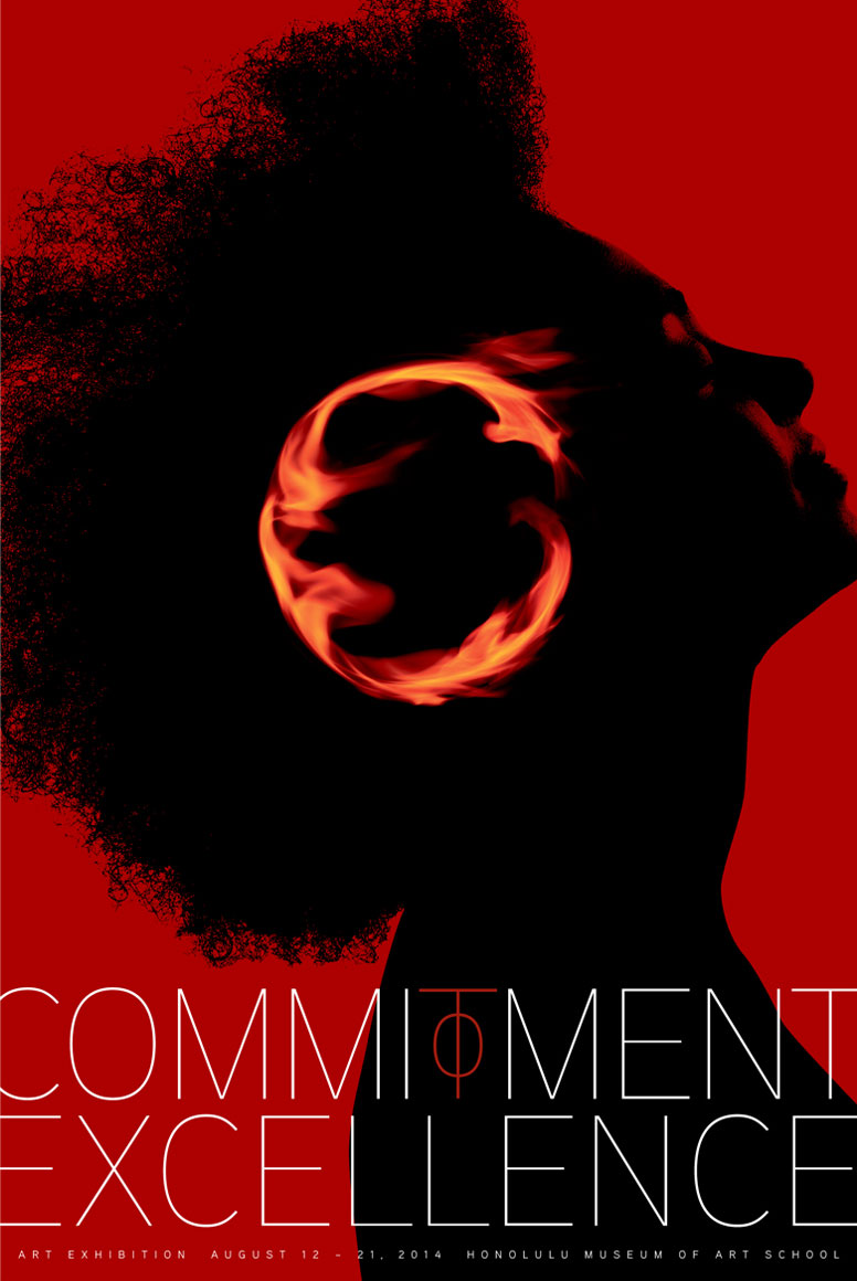 """36th Annual """"Commitment to Excellence"""" Art Exhibition Poster"""
