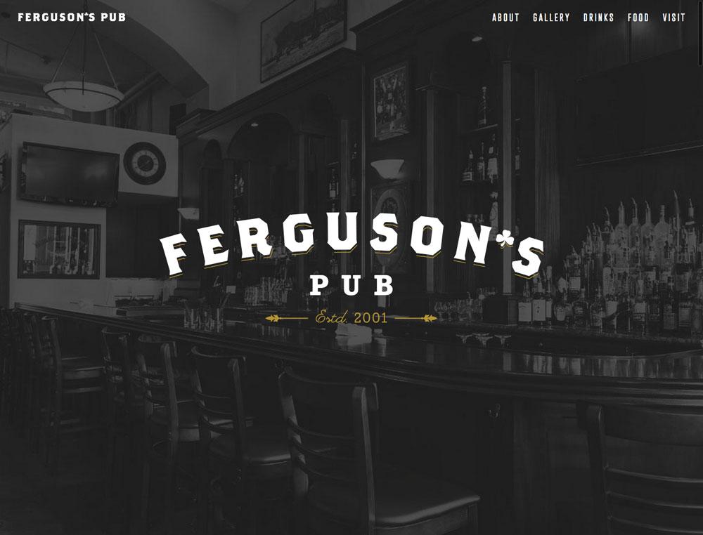 Ferguson's Pub Website
