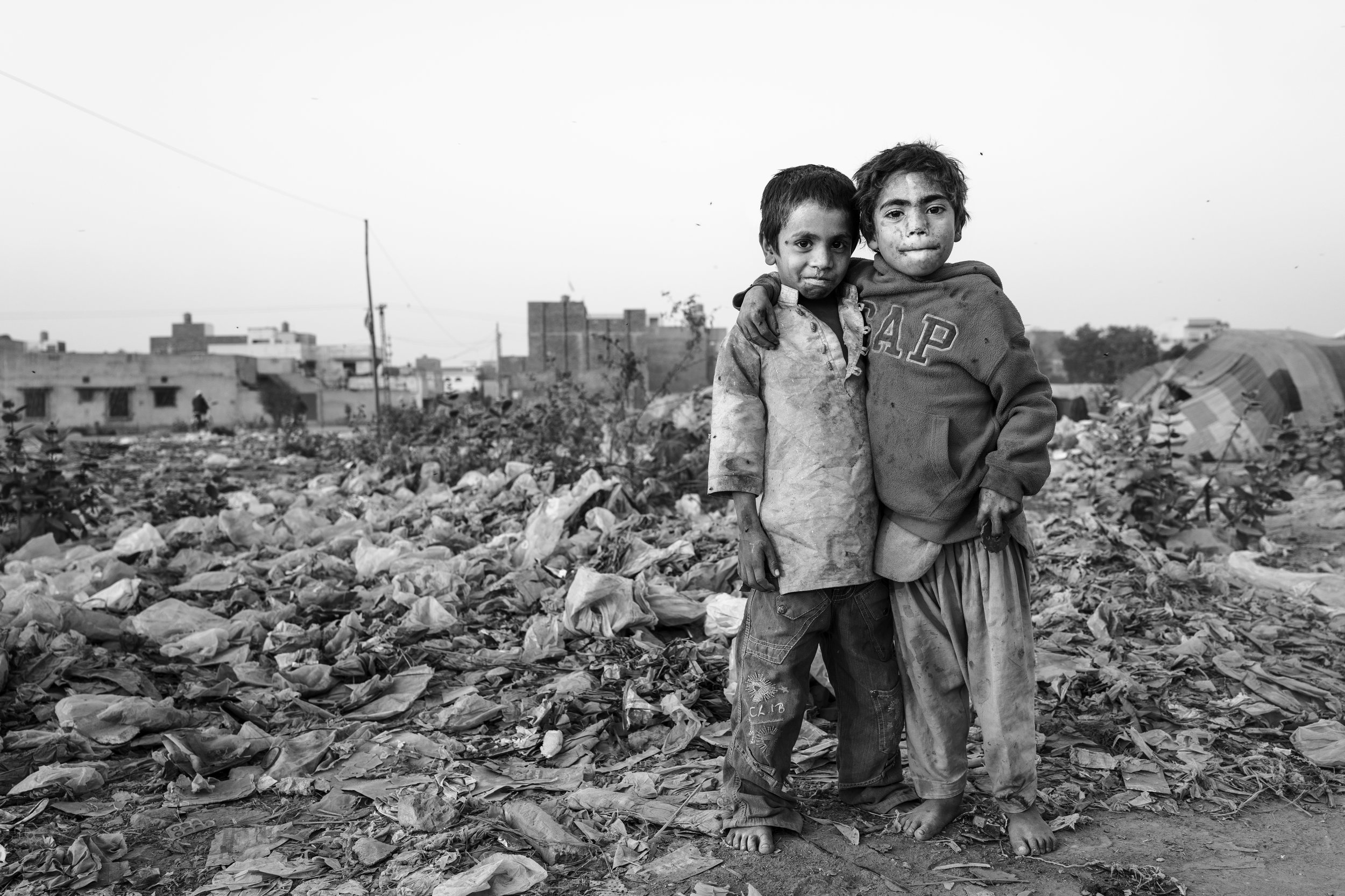 Kids at a dumping site, Sahiwal, Pakistan
