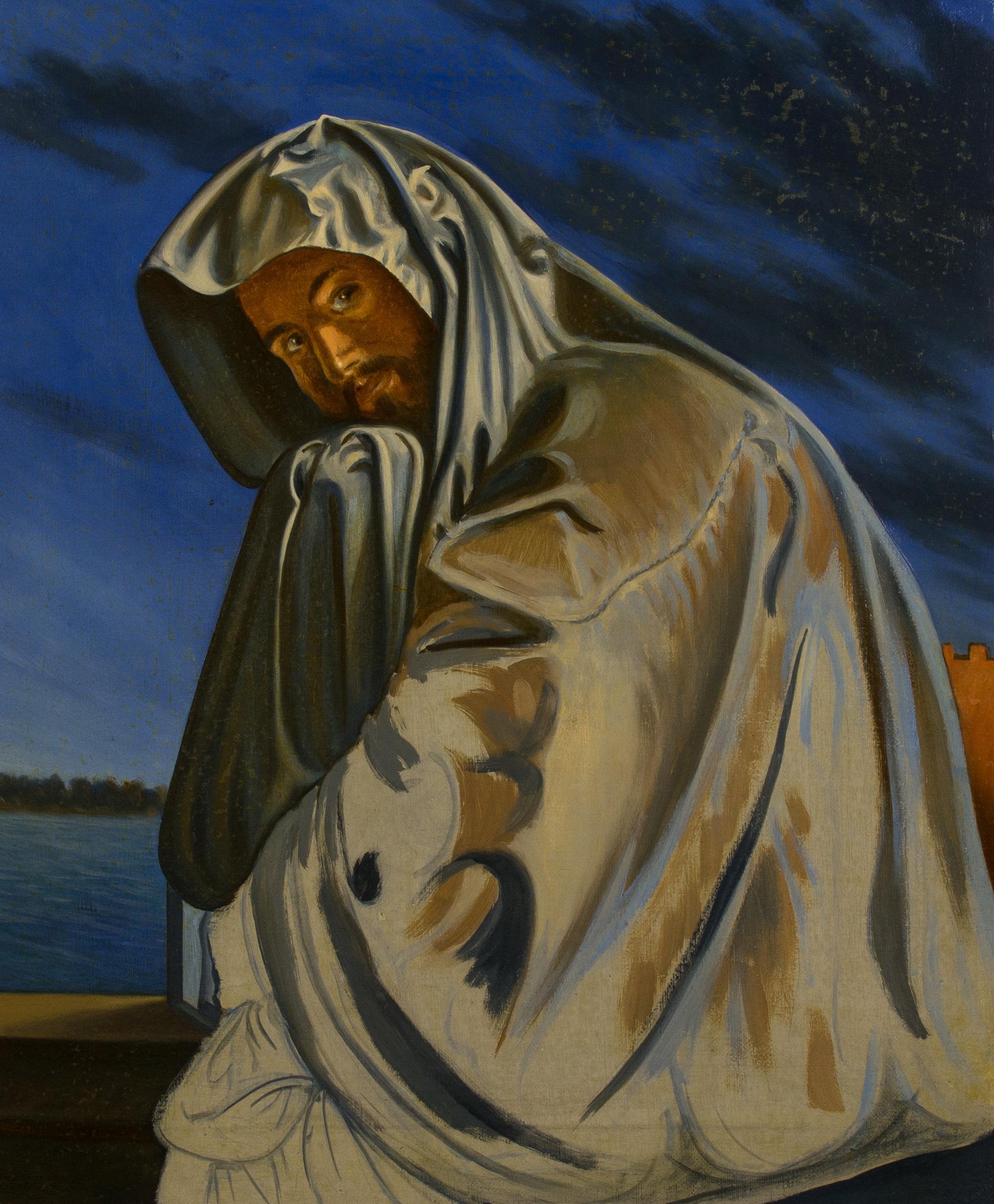 Ulisse in maschera ,  olio su tela, cm 60x50, 1996