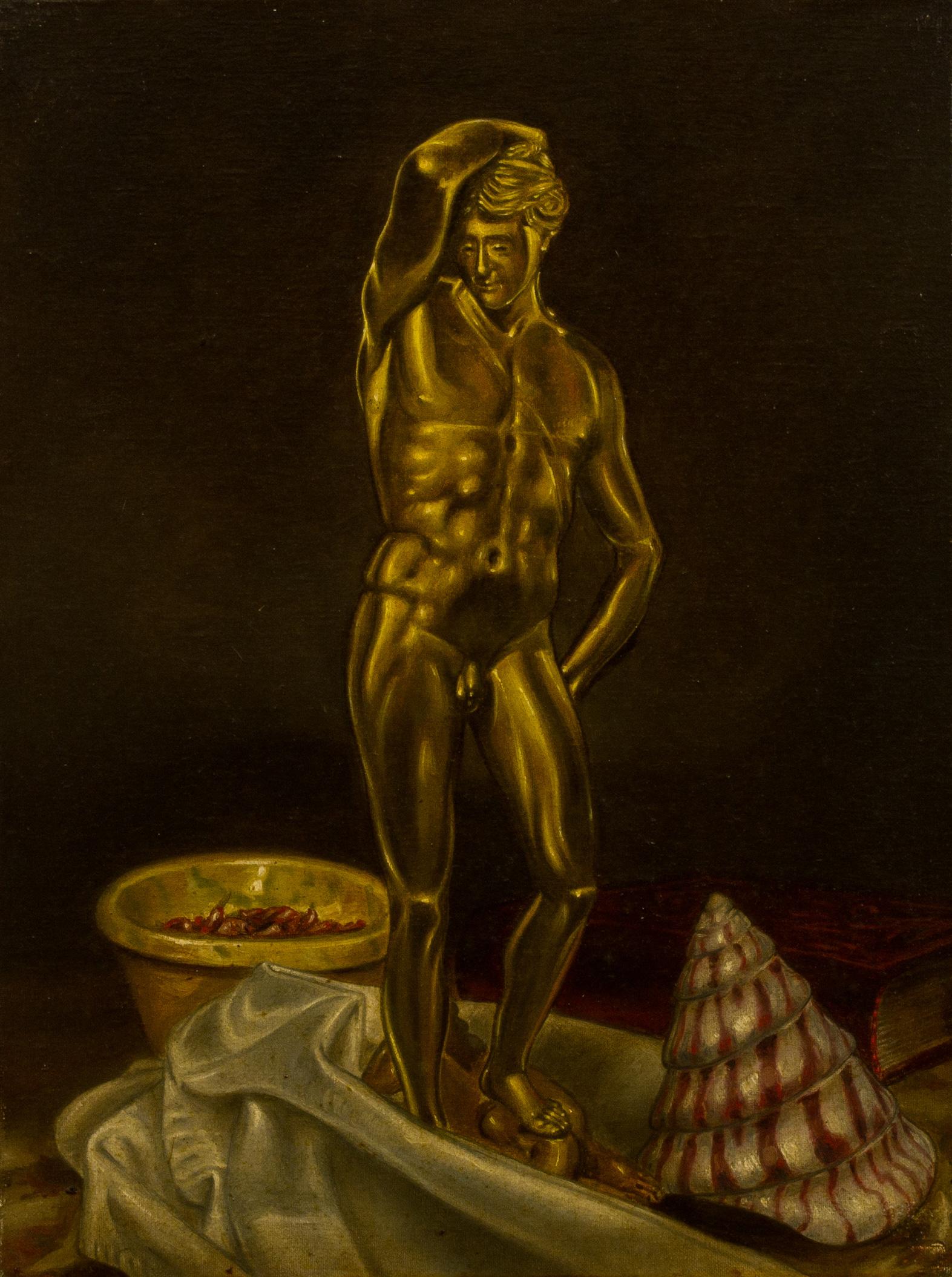 Apollo-d'oro ,  olio su tela, cm 40x30, 1992