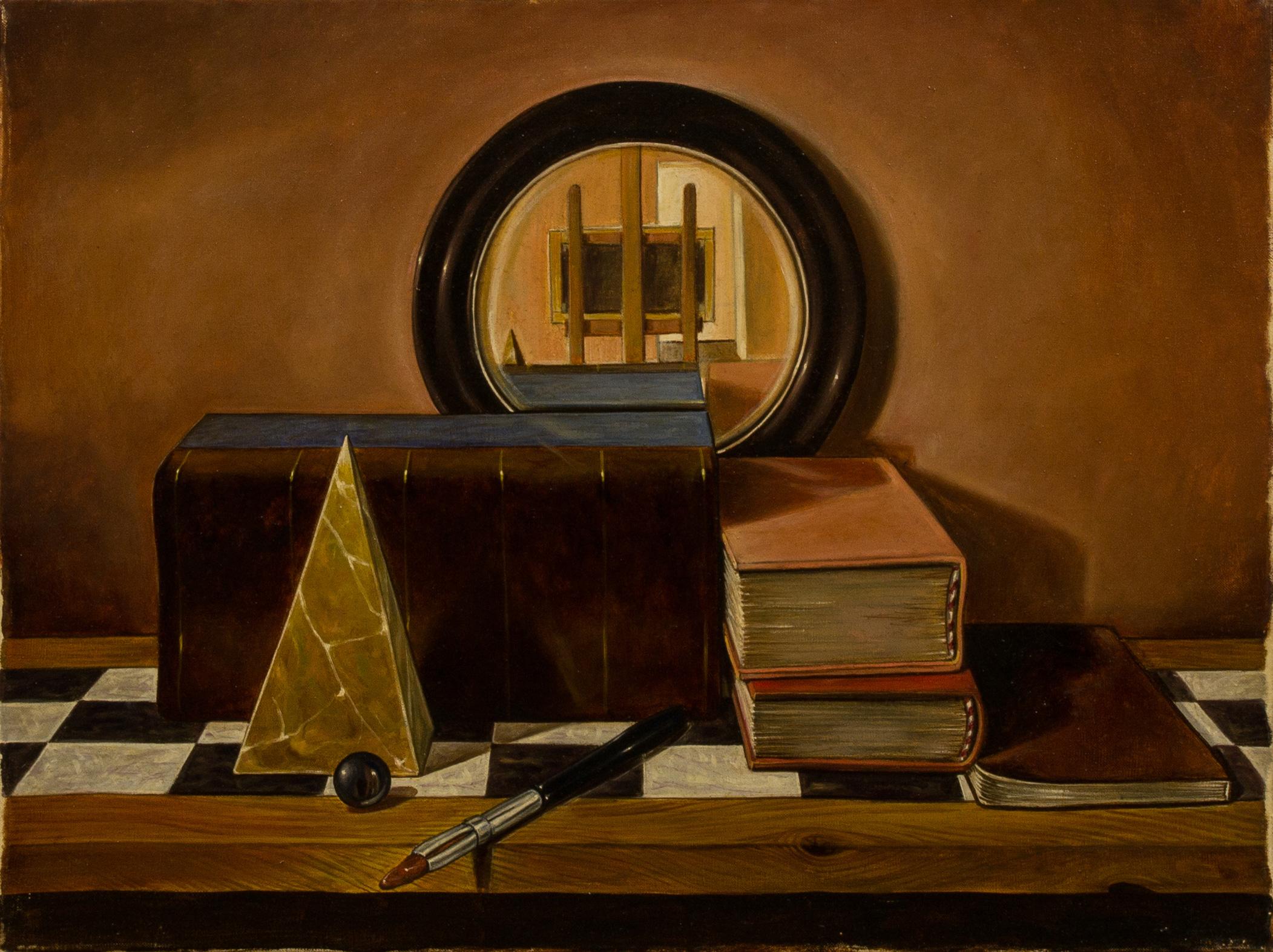 Ex libris , olio su tela, cm 30x40, 1992