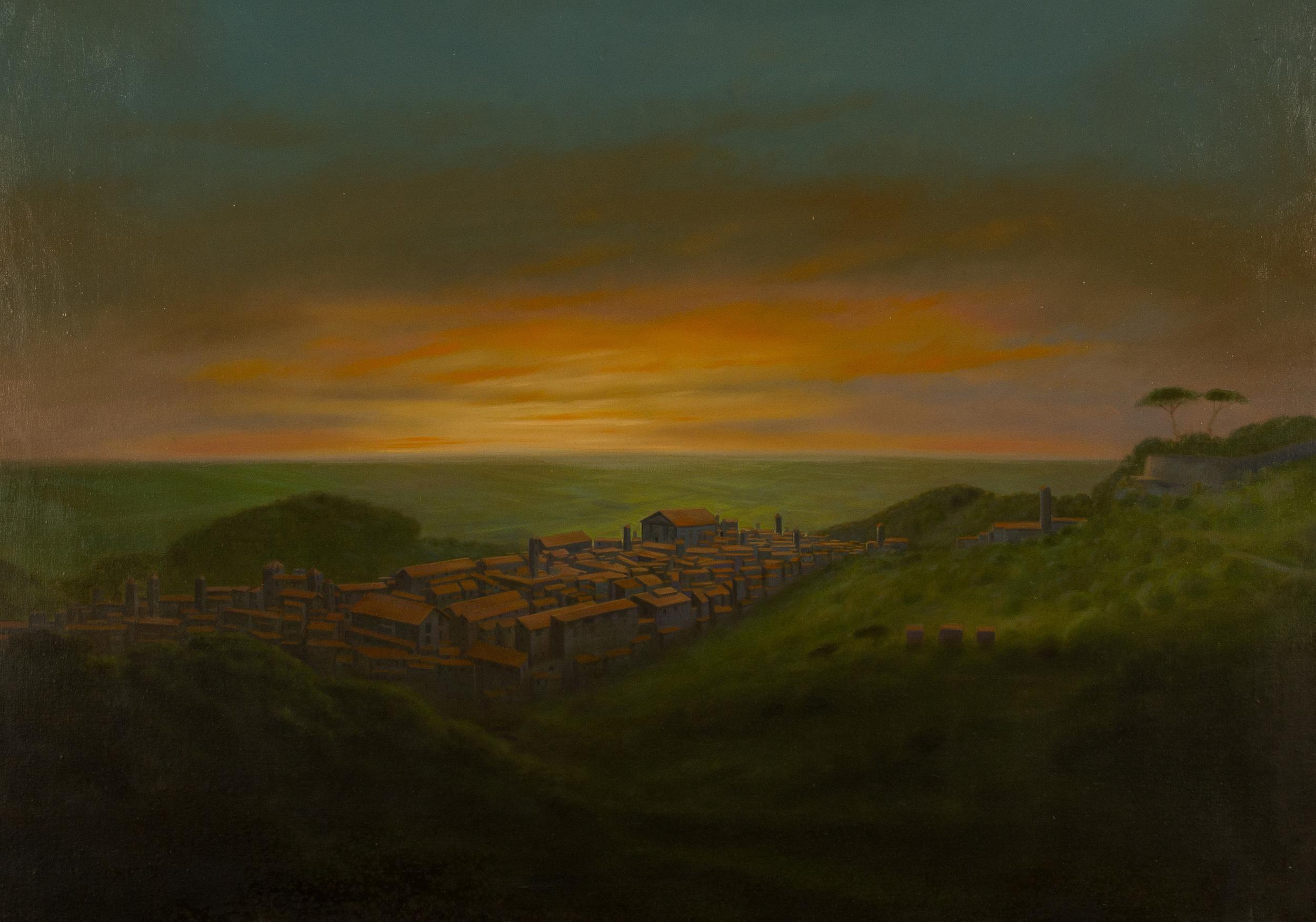 L'ora della poesia. Albalonga , olio su tela, cm 80x100, 2005