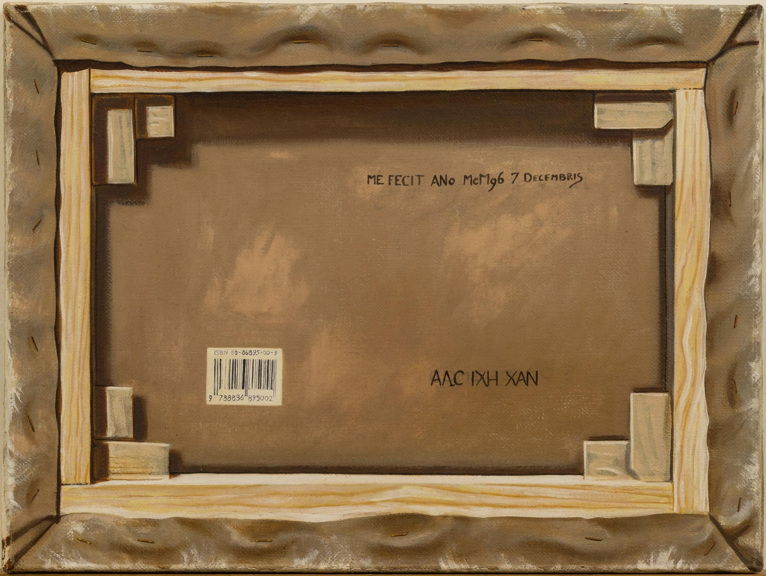 Retro-guardia , olio su tela, cm 30x40, 1996