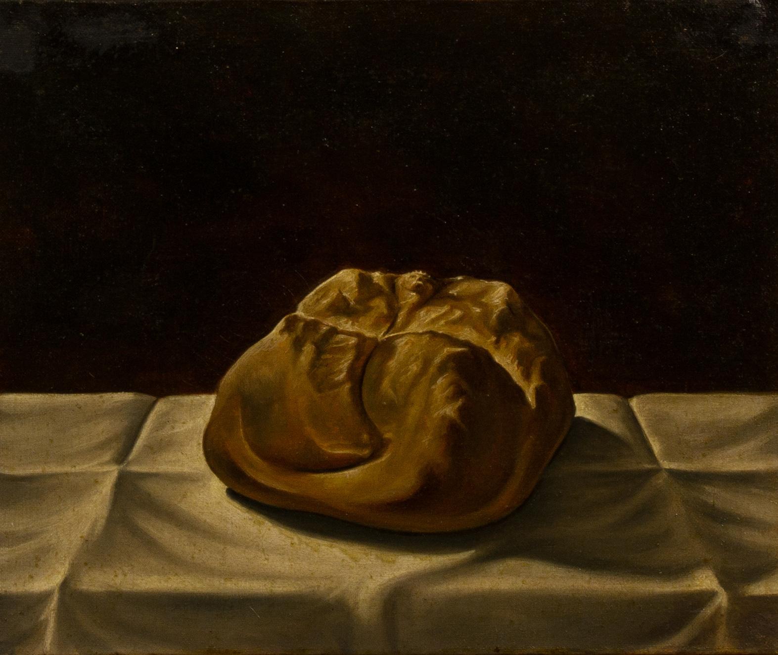 Pane mistico , olio su tela, cm 25x30, 1991