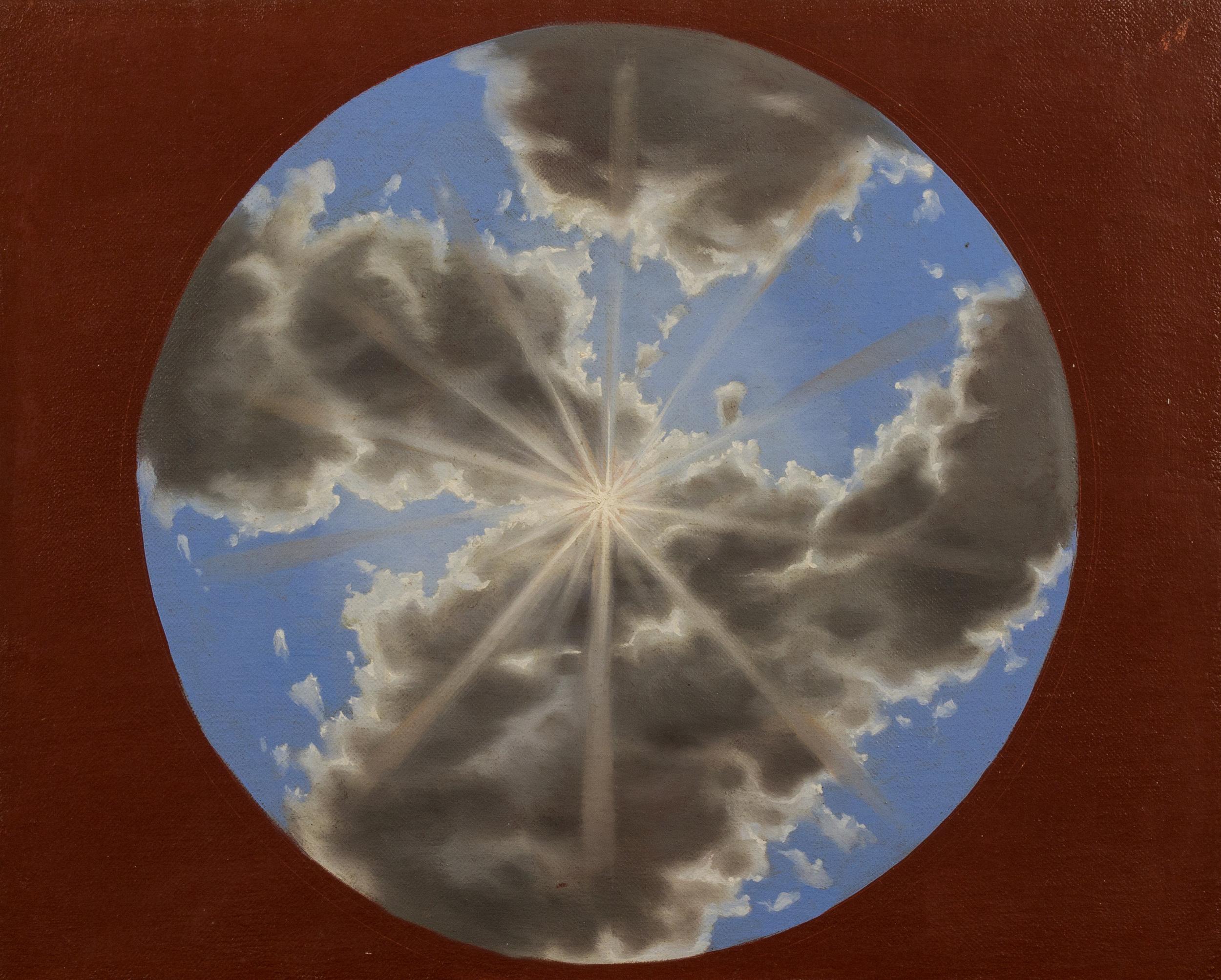 Studio di cielo per la cupola della Cattedrale di Bojano , olio su tela, 2001