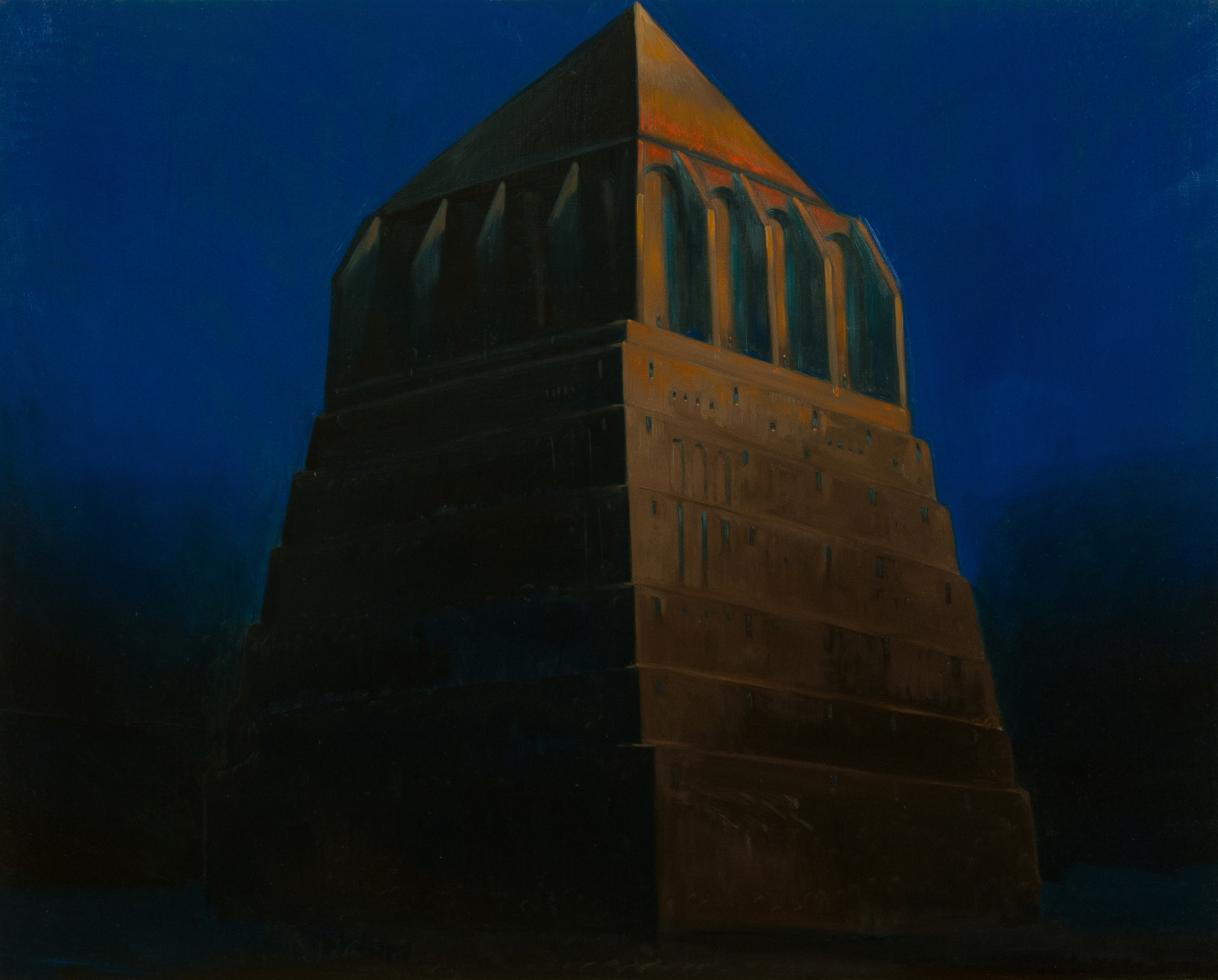 The tower of Babel ,  oil on board, cm 40x50, 2014