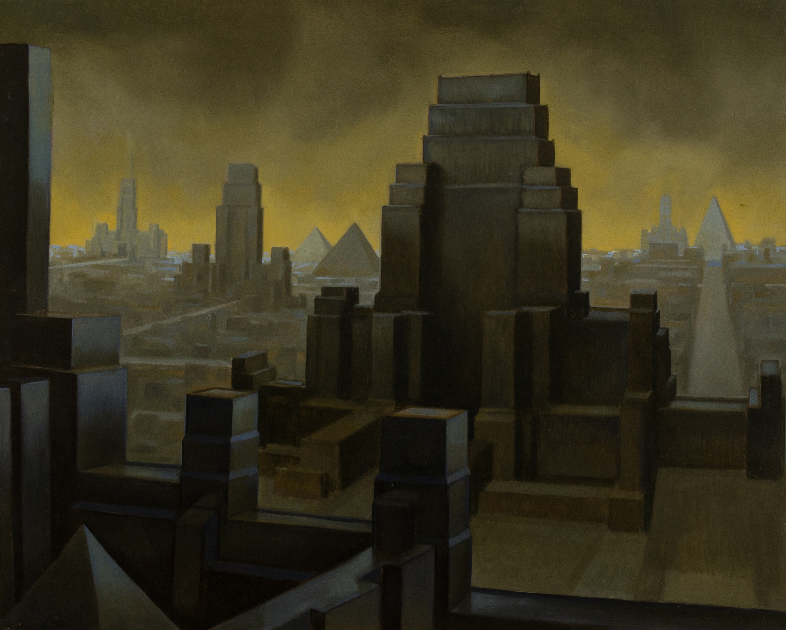 The tower of Babel ,  oil on board, cm 40x50, 2007