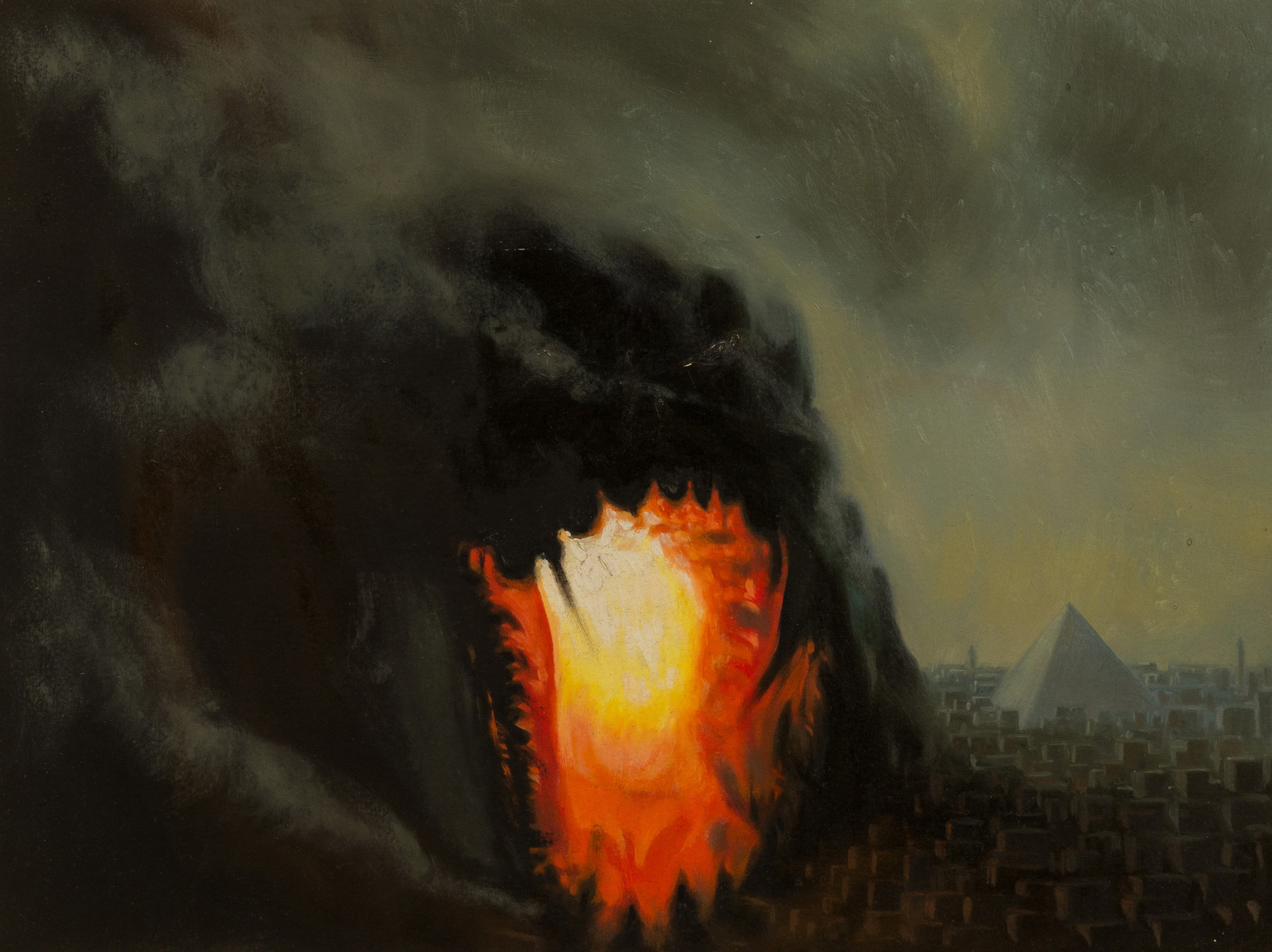 The tower of Babel ,  oil on board, cm 30x40, 2006