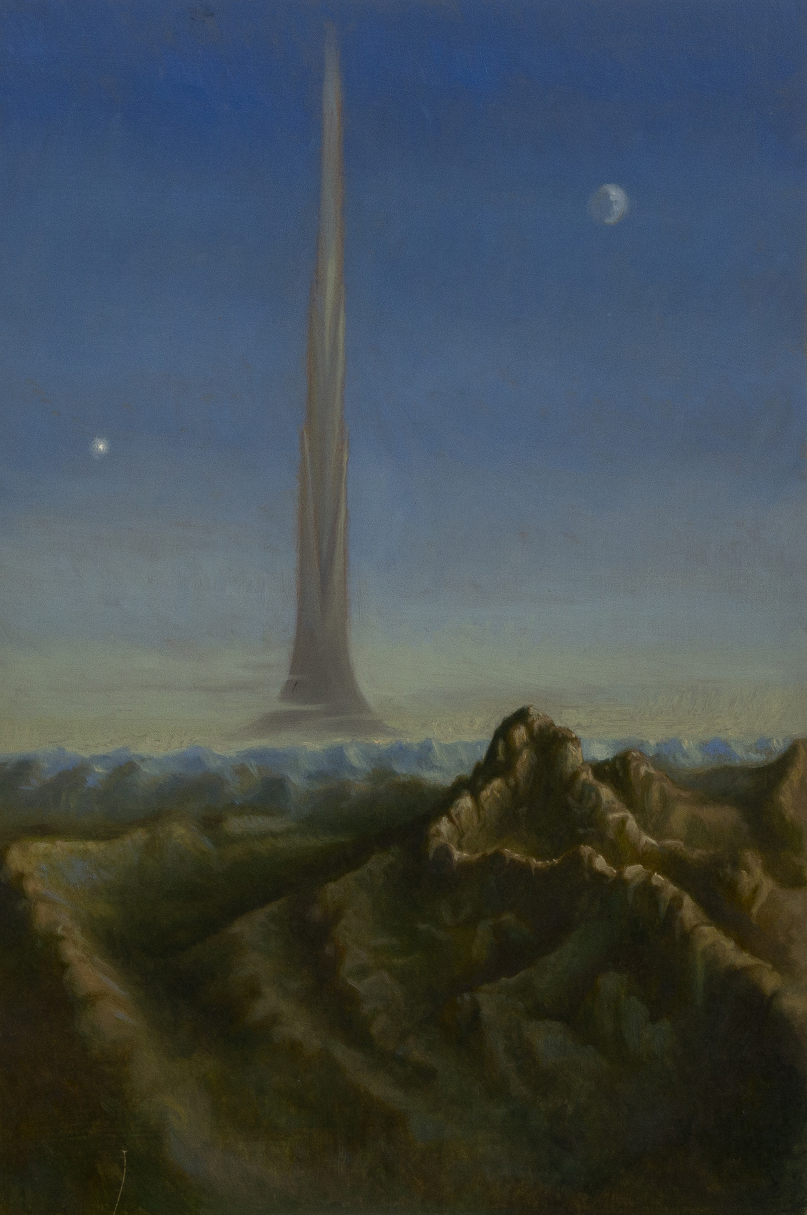 The tower of Babel ,  oil on board, cm 30x20, 2006