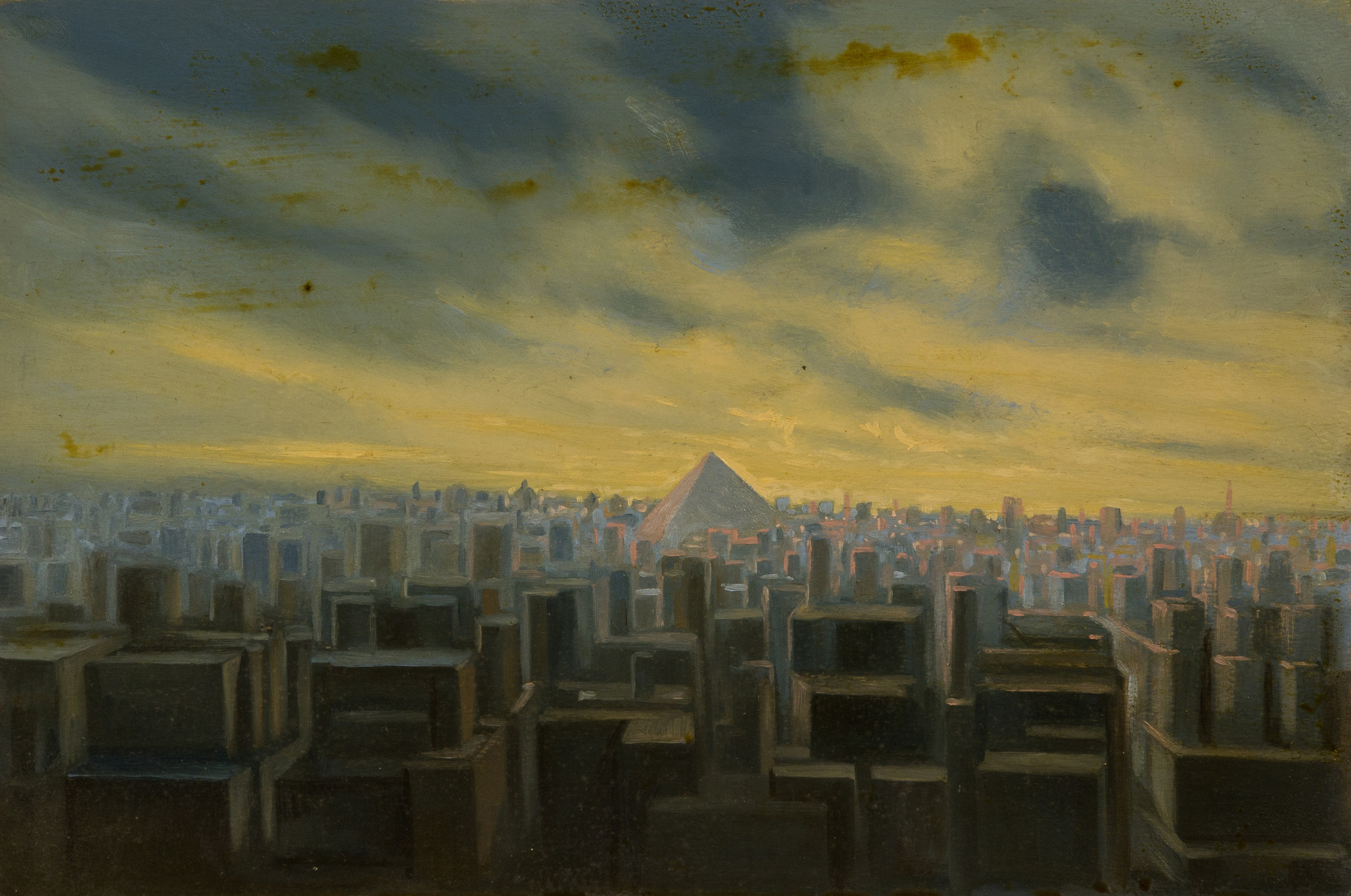 The tower of Babel ,oil on board, cm 20x30, 1996