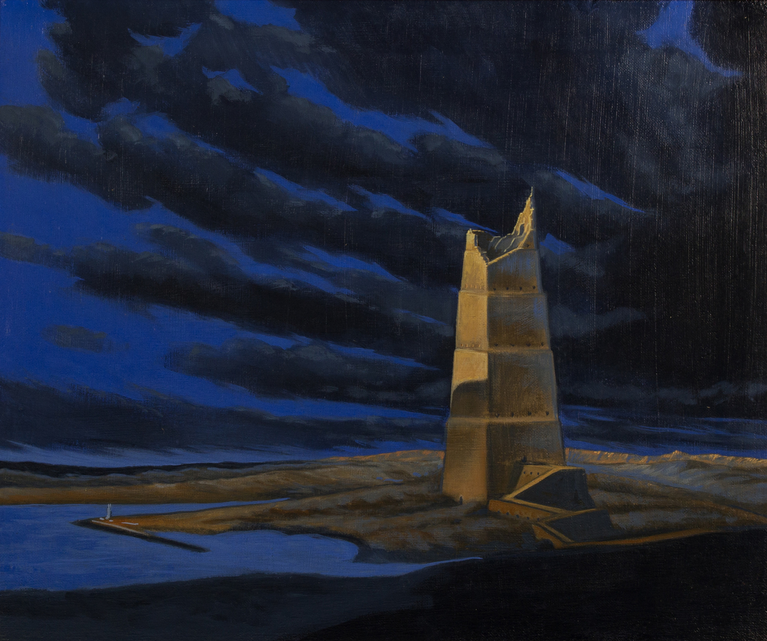 The tower of Babel ,  oil on canvas, cm 50x60, 1995