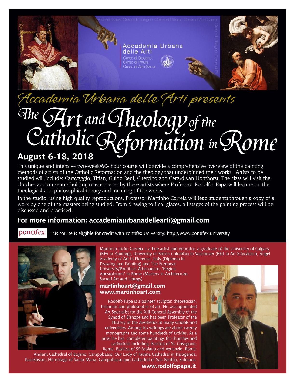 WORKSHOP IN ROME AUGUST 6-17 2018