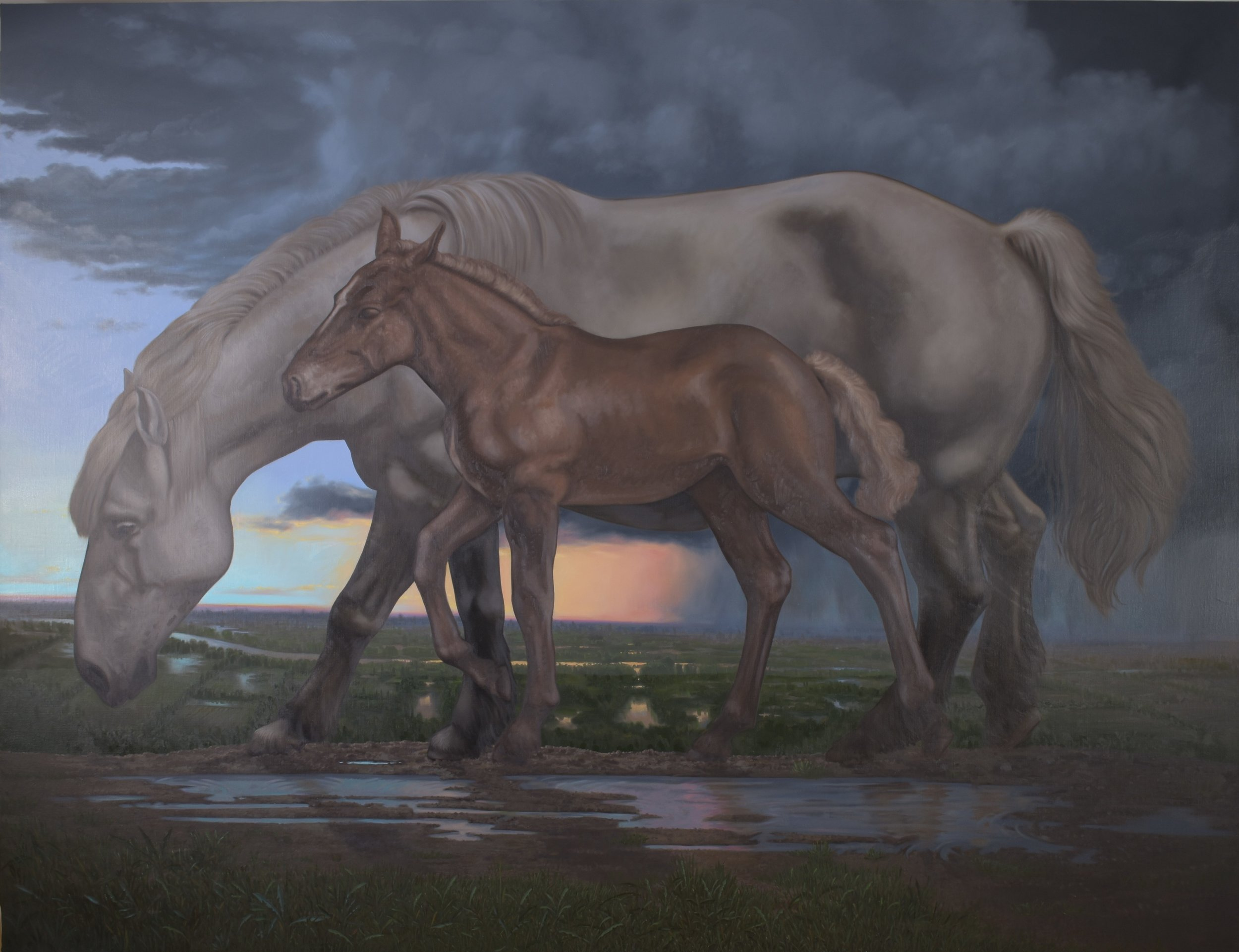 La Speranza, olio su tela, 200x260, 2017.