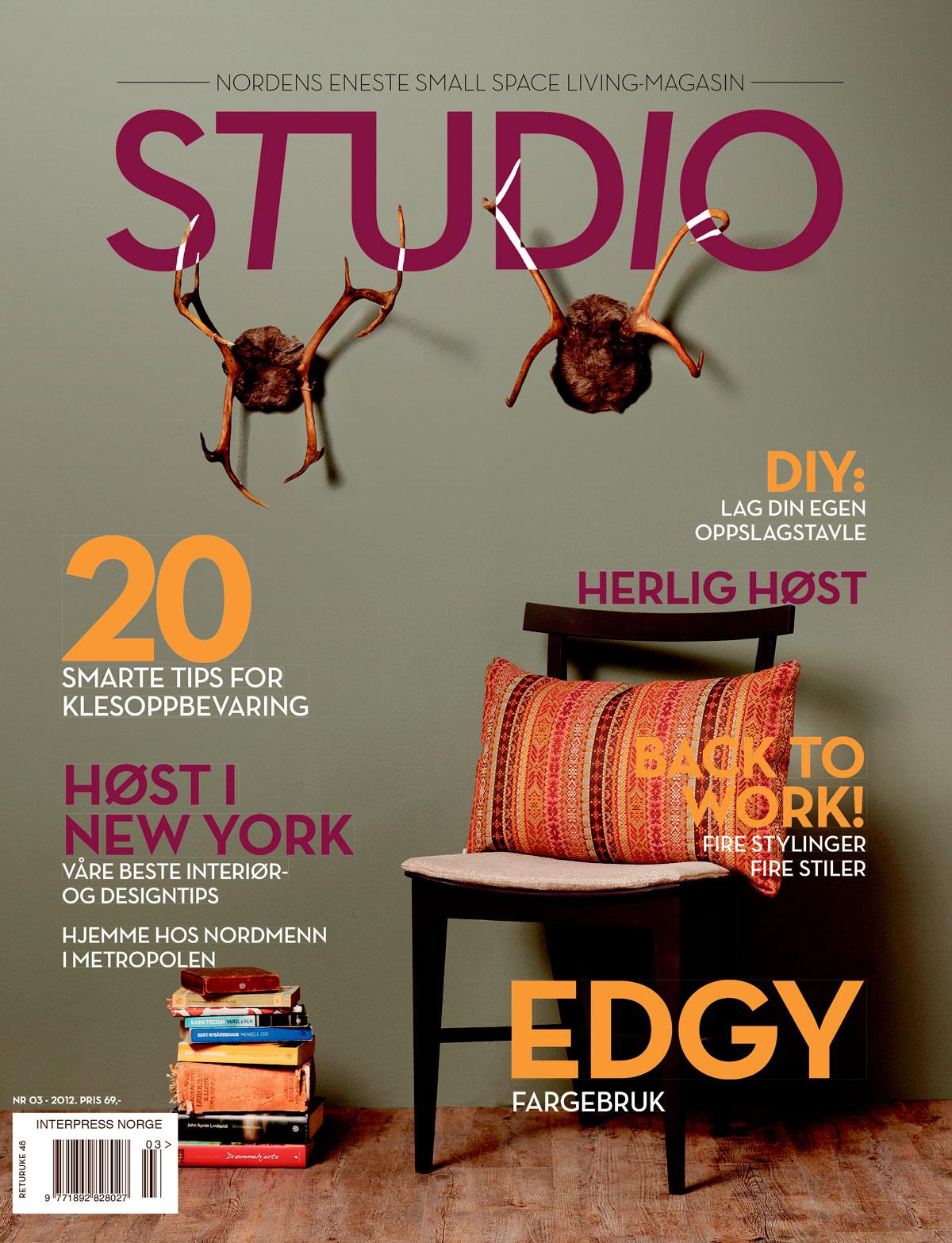 Redaktør for STUDIO utgave 03 - 2012