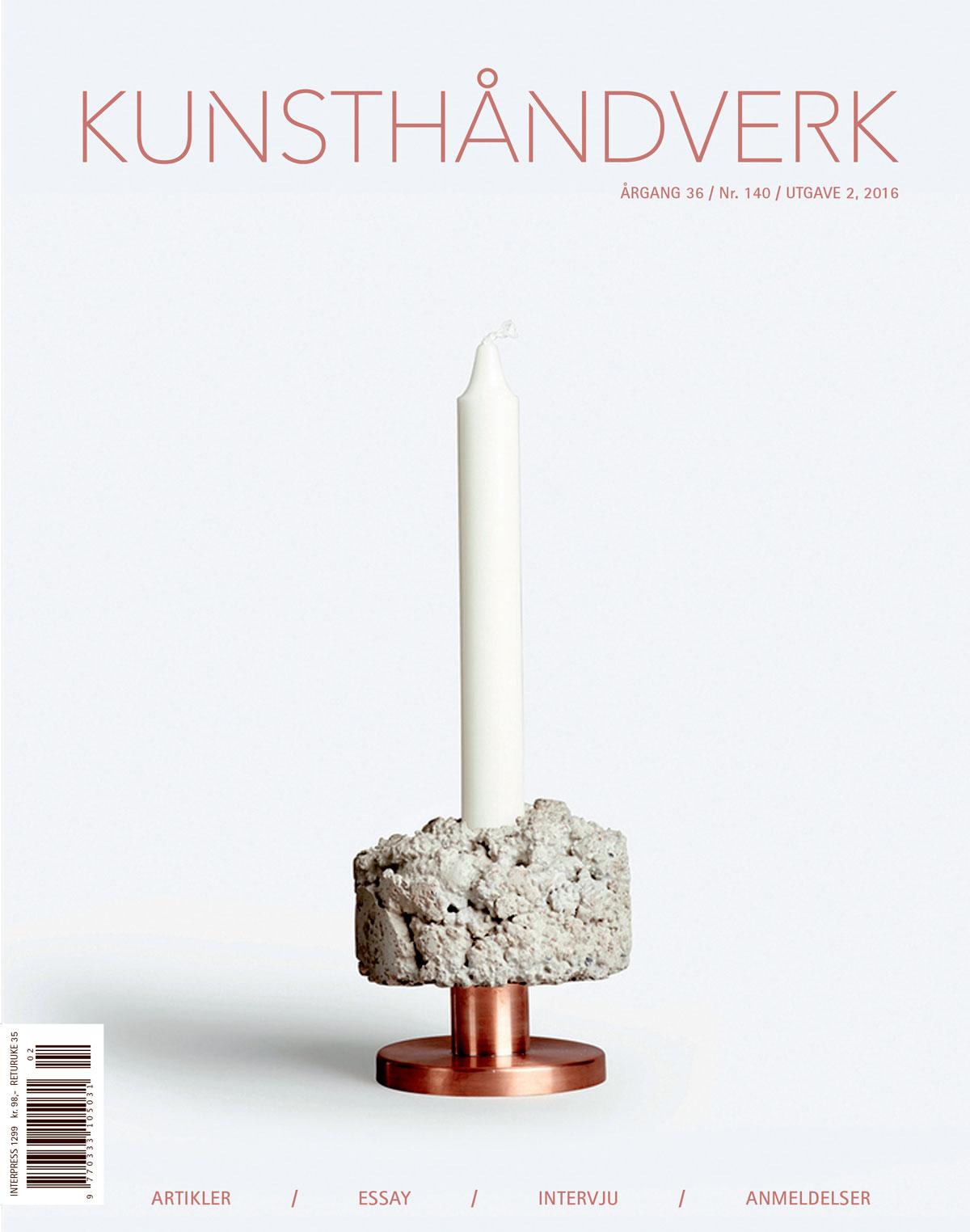 Gjesteredaktør for tidsskriftet Kunsthåndverk, utgave 2- 2016
