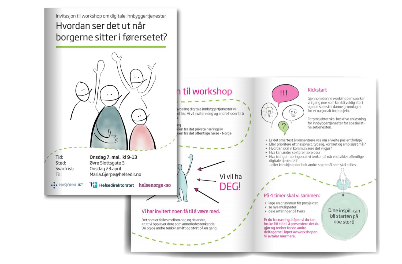 Helsedirektoratet - 2014Invitasjon utarbeidet for Helsedirektoratet i anledning workshop. Grafisk design og illustrasjon.