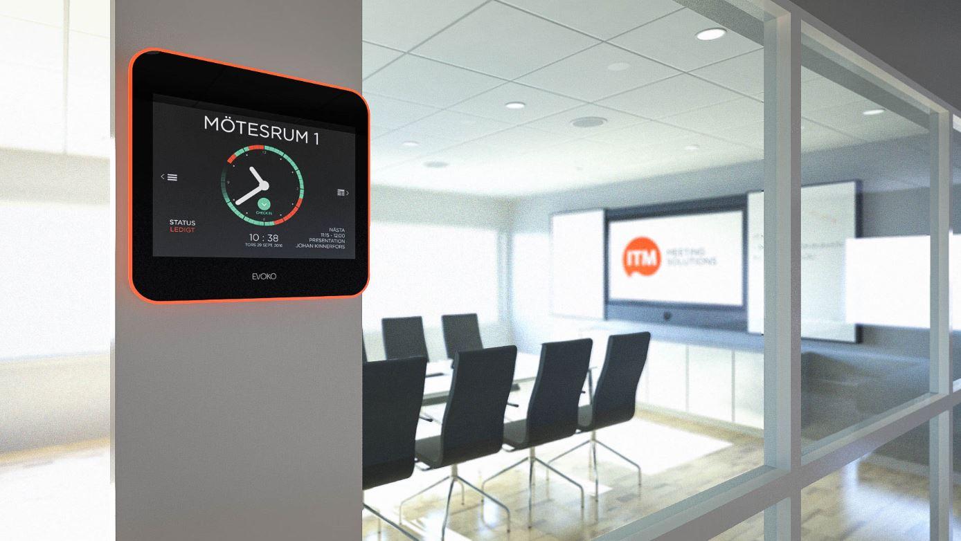 Ta kontrollen över dina mötesrum. Med Evoko Liso utnyttjar du dina mötesrum på bästa sätt. Du bokar som vanligt i Outlook och skärmen uppdateras utanför rummet. Du ser snabbt om ett rum är upptaget eller ledigt och när nästa möte är bokat. Ingen diskussion om vems om bokat rummet. Du kan spontanboka direkt på skärmen eller söka ett ledigt rum i närheten. Checkar inte den som bokat in i rummet frigörs det och blir ledigt i Outlook. Du kan nu också få statistik på nyttjandet.