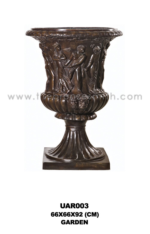 Bronze flower pot / urn