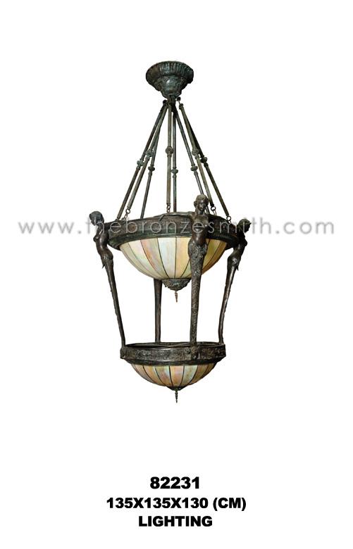 Bronze two-tiers chandelier