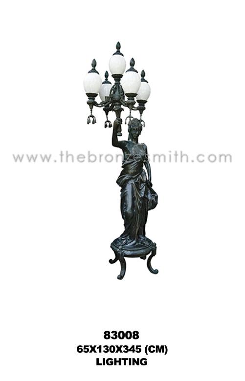 Bronze torchiere lighting