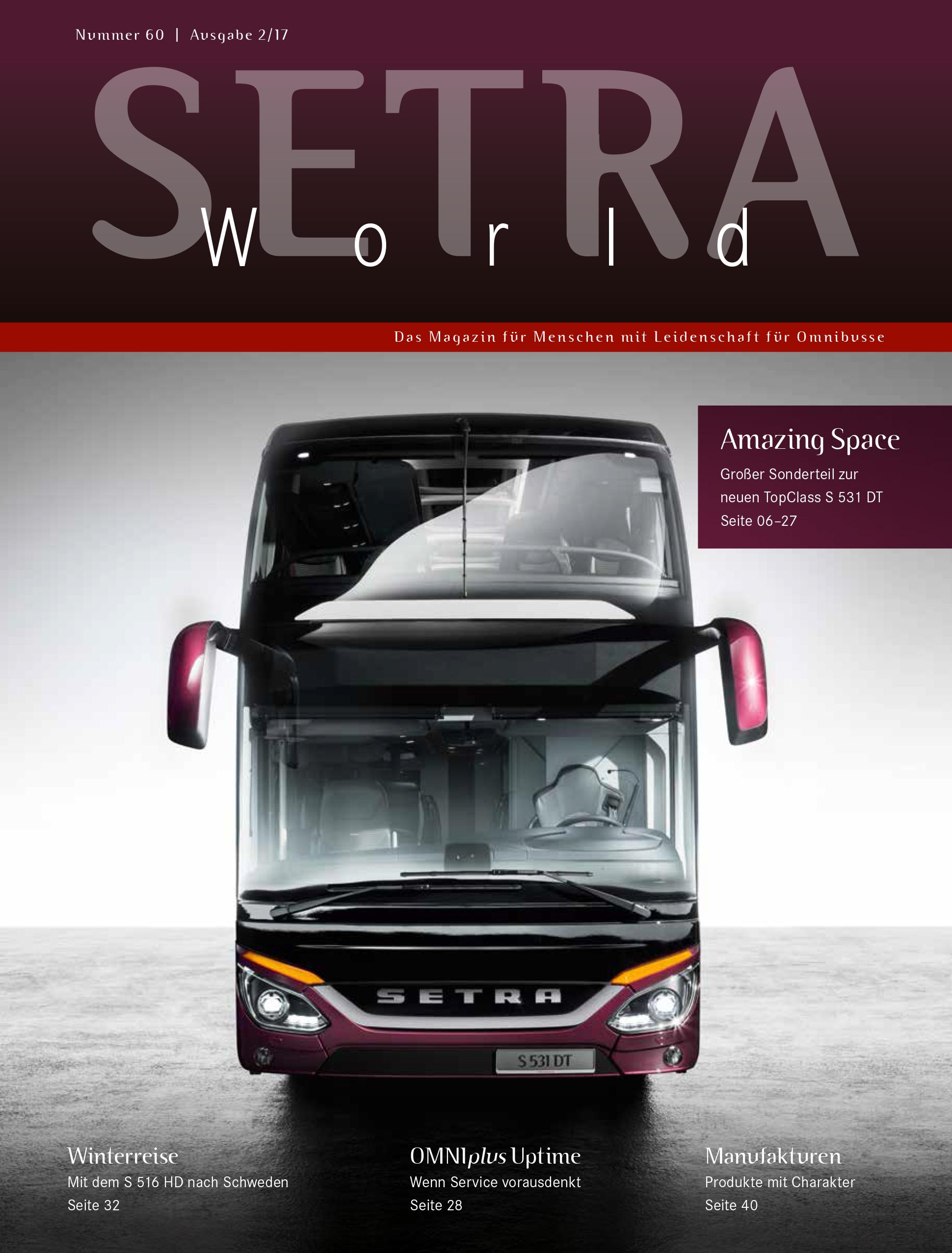 Setra World Kundenmagazin
