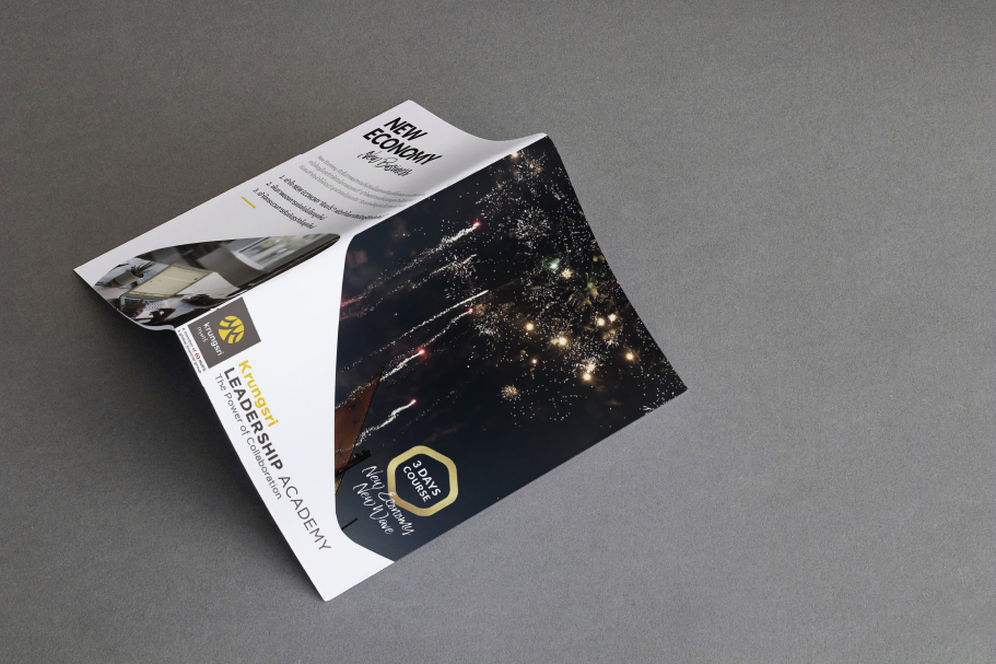 KRUNGSRI BANK : Leaflet Design for business class learning  :Agency : Fireoneone