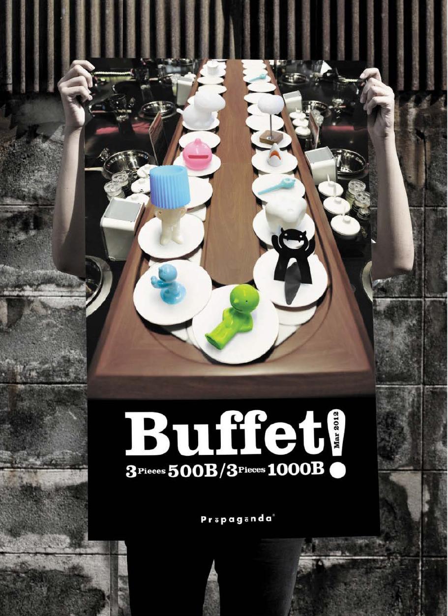 "PROPAGANDA : Creative poster design of Promotions ""Buffet concept"""