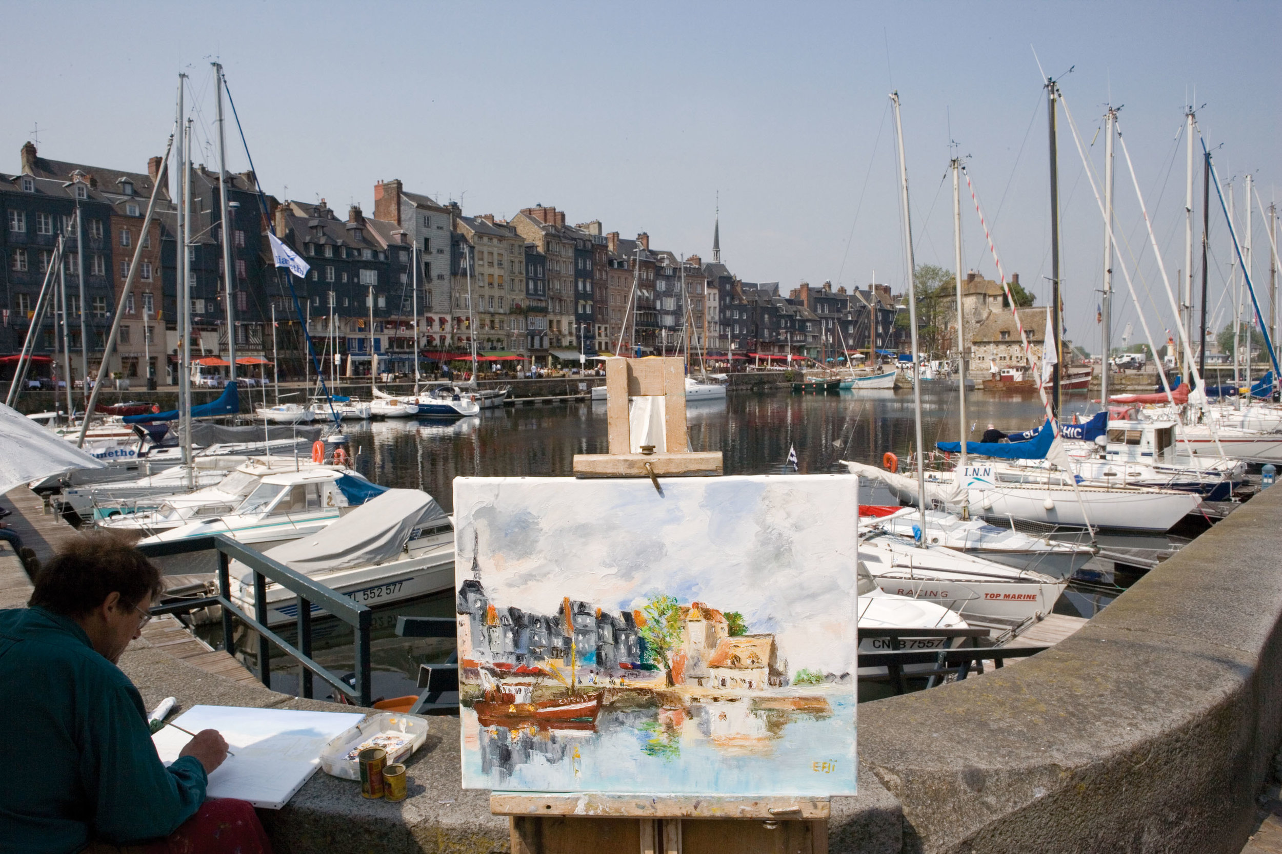 honfleur, den gamla hamnen