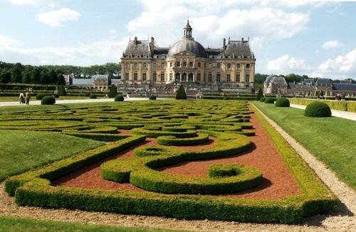 slottet i vaux-le-vicomte.