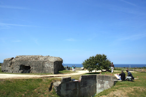bunker vid pointe du hoc. foto cdt 14