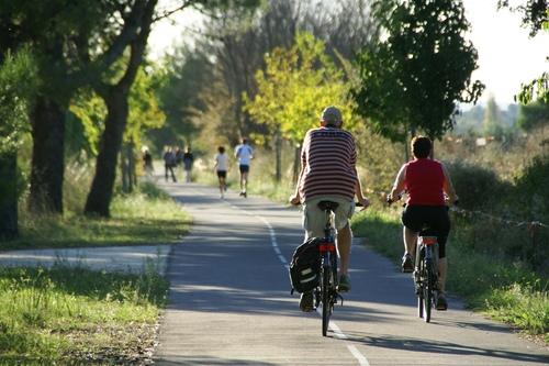 Cykelväg. Foto Gard Tourisme