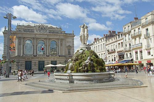 Montpellier, Place de la comédie.