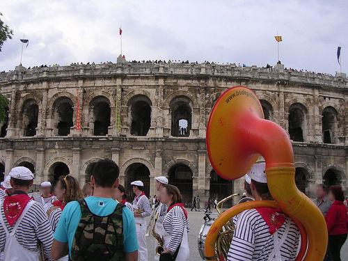 nîmes, fest vid romerska arenan. FOTO G CHP