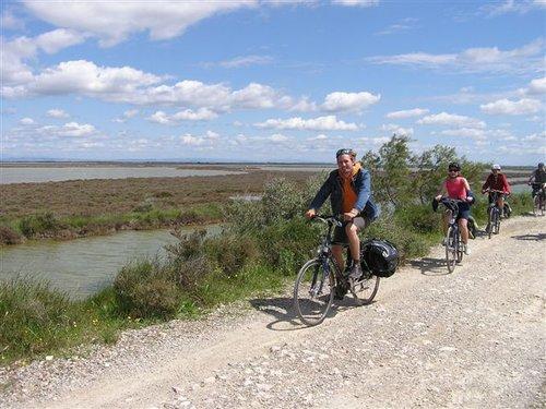 på cykel i camargue