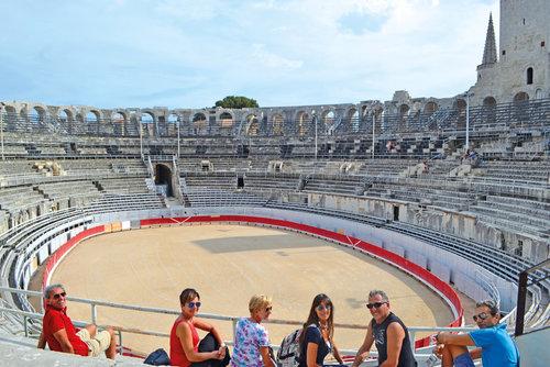 arles, amfiteatern används än idag vid olika evenemang