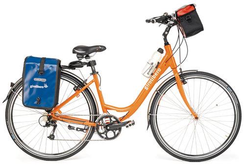 ni kan välja mellan 7 växlar med fotbroms och 21 växlar med handbroms eller elcykel