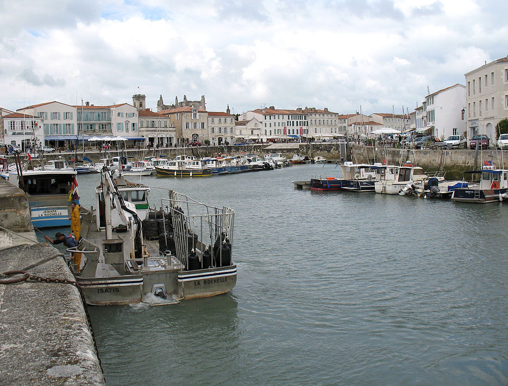 Hamnen i Saint-Martin-de-Ré. foto Gilbert Bochenek