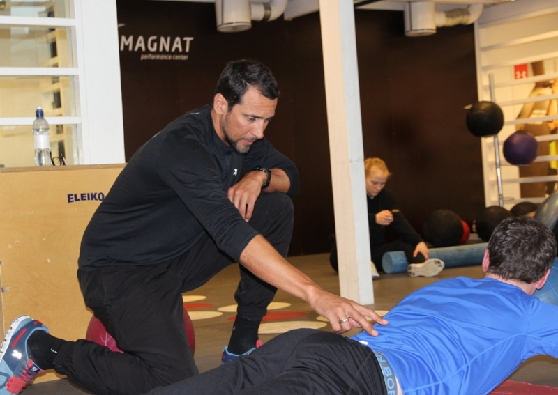 Marcel with one of his customers at Magnat Center.