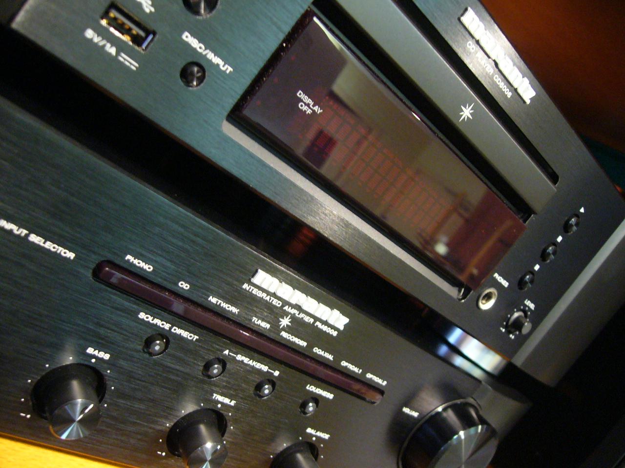 We will also be showing Marantz's AWARD WINNING Hi-Fi the  CD6006  &  PM6006 .